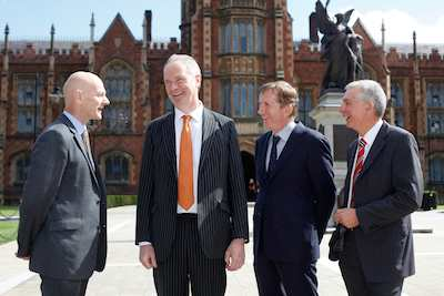 Pictured at the launch of the Food Fortress pilot scheme in Queens University